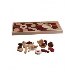 Magic Forest Red Wood Puzzle Series - Fruit Kitchen Puzzle