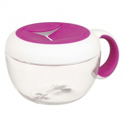 OXO TOT Flippy Snack Cup with Travel Cover - Pink