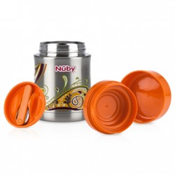 Nuby 450ml Stainless Steel Food Jar - Orange