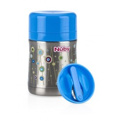 Nuby 450ml Stainless Steel Food Jar - Blue