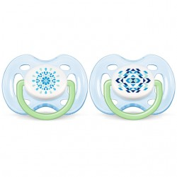 Philips Avent Contemporary Free Flow Soother 0-6M (2 Pieces)