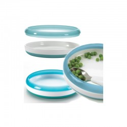 OXO TOT Training Plate with Removable Ring - Aqua
