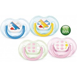 Philips Avent Soother Fashion Range (0 - 6 Months) Twin Pack