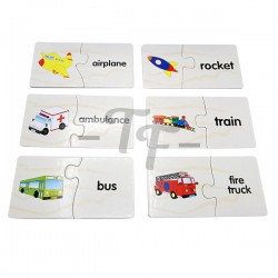 Toys Funtastic Match-It Puzzle, Transportation Series