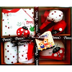 Pureen Pride 'N' Joy Gift Set (Cuties Red Lady Bug)
