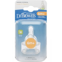Dr Brown Options - Level 3 Silicone Narrow-Neck Teats (2Pcs)