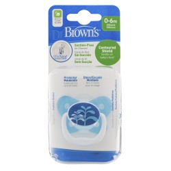 Dr Brown's Prevent Butterfly Shield Pacifier - Stage 1 (0-6M) Blue, 1 Pack