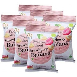 Wel.B Freeze Dried Strawberries & Banana Bundle (6 packets)