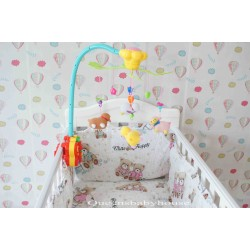 Baby Cot Happy Bear Bedding Set (60x120cm)