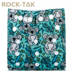 Rocktak Reusable Baby Cloth Diaper Koala Bear (Exclusive print) + 1 microfiber insert