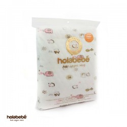 Holabebe Baby Diaper Mat Waterproof-Pink Elephant  (Size 105 x 70cm)