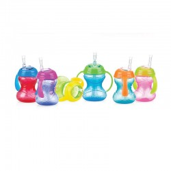 Nuby Click-It Twin Handle Flexi Straw Cup 240ML/8OZ