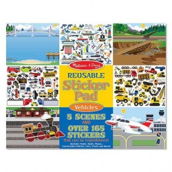 MELLISSA & DOUG Vehicles Reusable Sticker Pad