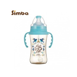 Simba Dorothy Wonderland PPSU Bottle[Handle+Auto Straw]-Wide Neck 360ml-Blue