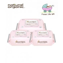 Natural Organic Baby Wipes - Soothing Premium Plain Captype 70 Sheets (3 packets)
