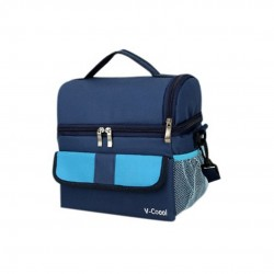 V-Coool Classic Double Deck Cooler Bag (Dark Blue)