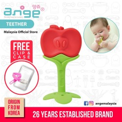 Korea Ange Apple Teether with Soft Sensory BPA Free Silicone