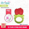 Korea Ange Apple Teething Ring with Soft Sensory BPA Free Silicone, Clip  and  Case