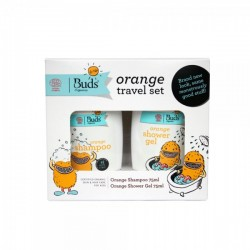 Buds for Kids Orange Travel Set