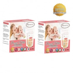 Autumnz Double ZipLock Breastmilk Storage Bag *12oz* (28 bags-Twin Pack)