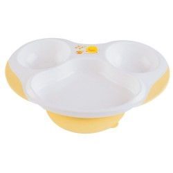 Piyo Piyo Slip-Proof Three-Section Dining Plate