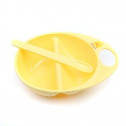 Piyo Piyo Cereal Bowl with Spoon Set (Yellow)