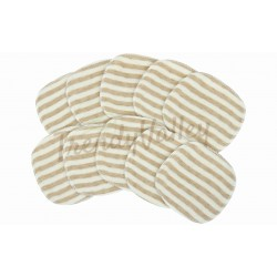 Trendyvalley - ORGANIC COTTON WASHABLE BREAST PAD 12 PCS