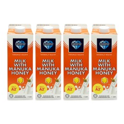[Chilled] DiamondPure Milk with Manuka Honey 1L (4 Packets)