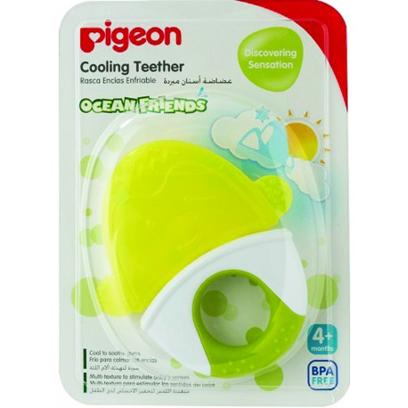 Pigeon Cooling Teether, Green Penguin