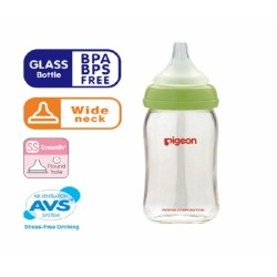 Pigeon Wide-Neck Nursing Bottles, Glass, 160ml - 00478