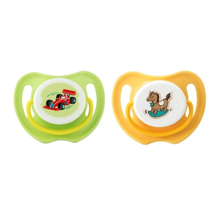 Pigeon Calming Soother, 2pcs-Boy, M