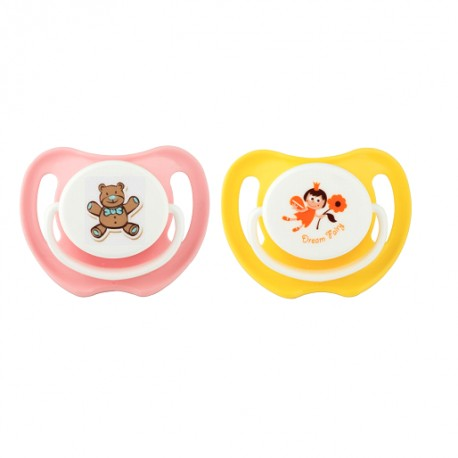 Pigeon Calming Soother 2 Pieces - Girl (M)