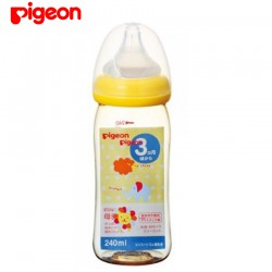 Pigeon Wide-Neck Nursing Bottle, Animal, PPSU (Polyphenylsulfone), 240ml - 00342