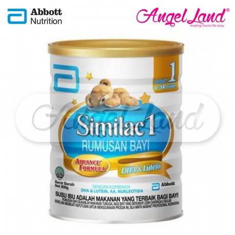 Abbott Similac 1 Rumusan Bayi Advance Formula DHA & Lutein Step 1 (0-12month) 900