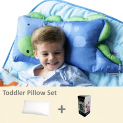 Milo & Gabby Toddler Pillow & Pillowcase Set (Dinosaur Designed)