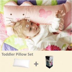 Milo & Gabby Toddler Pillow & Pillowcase Set (Cat Designed)