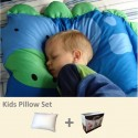 Milo & Gabby Kids Pillow & Pillowcase Set (Dinosaur Designed)