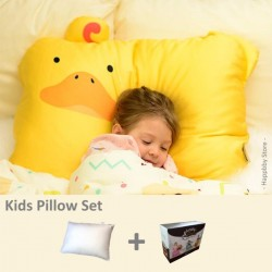 Milo & Gabby Kids Pillow & Pillowcase Set (Duck Designed)
