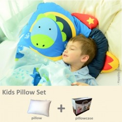 Milo & Gabby Kids Pillow & Pillowcase Set (Dylan Rocket Designed)