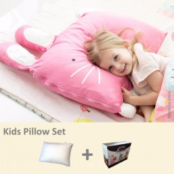 Milo & Gabby Kids Pillow & Pillowcase Set ( Bunny Designed)