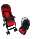 Anakku Travel System Stroller with Carrier(E500+E500CR Red)