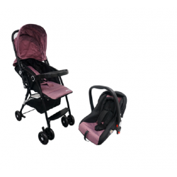 Anakku Travel System Stroller with Carrier (E500+E500CR Purple)
