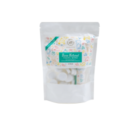 Bare Nuhcessities Natural Travel Wipes  (50 pcs + 1 tube)