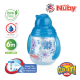 Nuby Designer Pinpoint 2 Handle Click-It Trainer Cup with Weighted Straw & Flip-It Thin Straw 240ml/8oz (Light Blue)