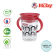 Nuby 360 Wonder Cup 1Pk 240ml/8oz Twin Handle Tritan (Red Penguin)