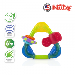 Nuby Triangle Teether with TPE (1pc) - Green Triangle