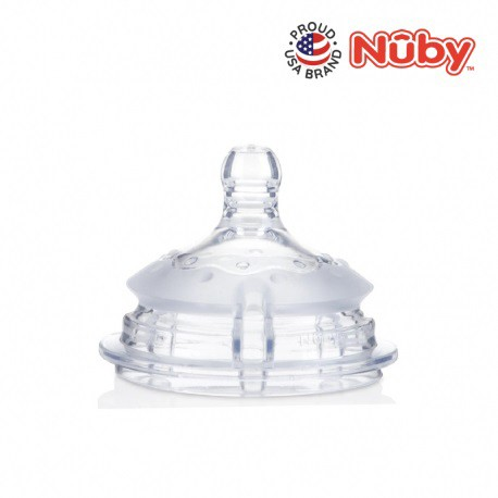 Nuby Comfort Silicone Bottle Replacement Nipple Medium Flow (2pcs)