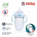 Nuby Comfort Silicone Bottle With Medium Flow Nipple, Pp Handles, And Pp Cover 250ML