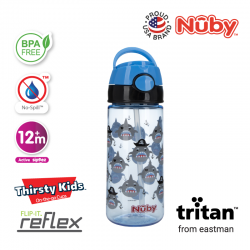 Nuby Tritan Flip-It Active Cup (18oz/532ml) - Shark