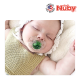 Nuby Little Gems Pacifier with Orthodontic Silicone Baglet With PP Hygienic Cover In PS Box 0M-6M (Light Blue, White)